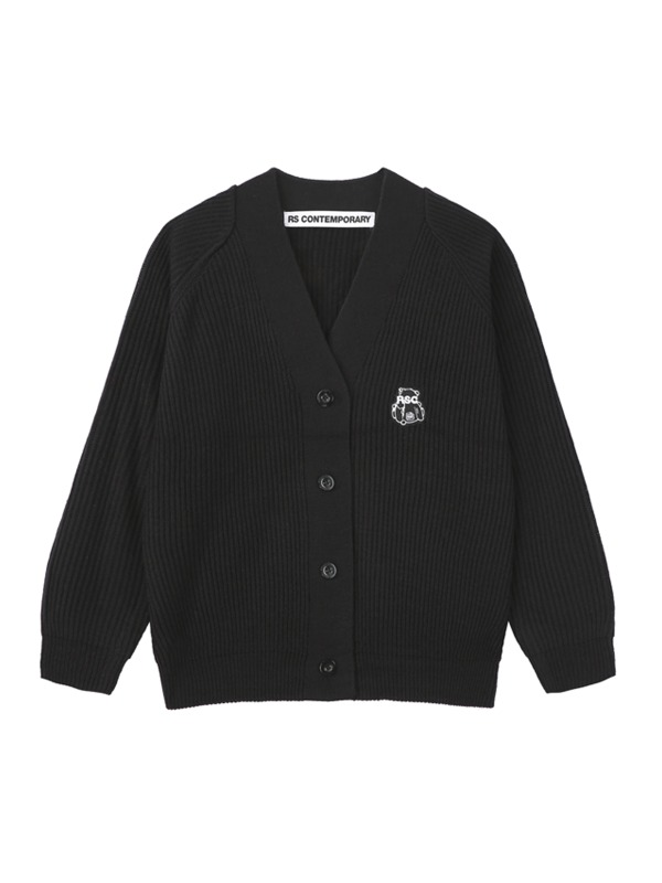 [NEW10%] RAGLAN PATCH CARDIGAN - black