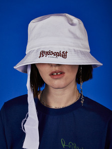 17FW collection logo bucket hat -WH
