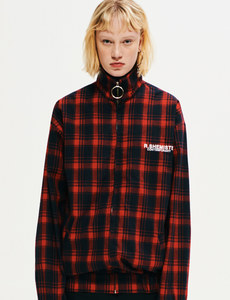 [30% SALE]Check zipup jp-RED ch
