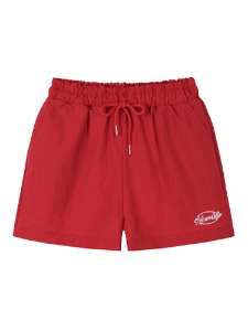 [70% SALE]Logo nylon shorts - RED