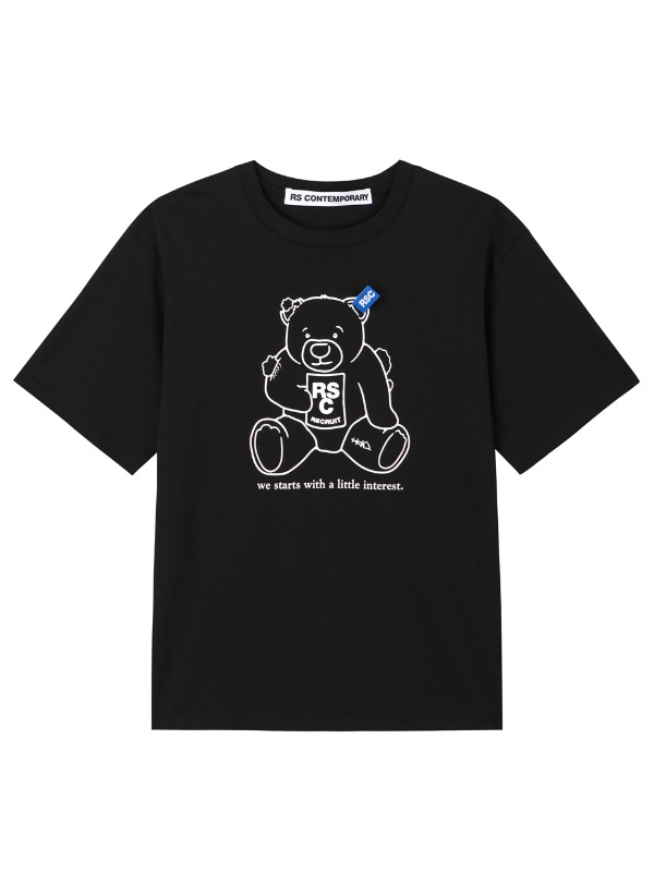 [3차재입고]CLUMSY BEAR T SHIRT - BK