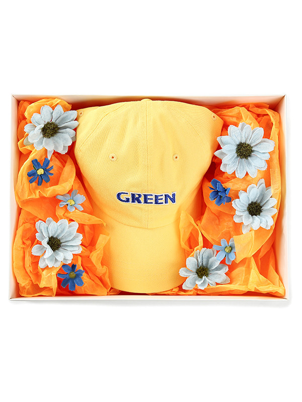 [FLOWER PACK]GREEN BALLCAP - YE