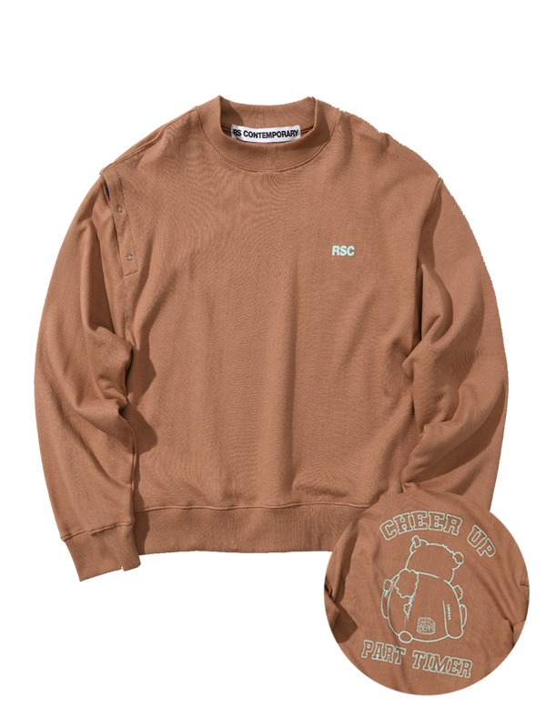 BIG CB SWEATSHIRT - BROWN