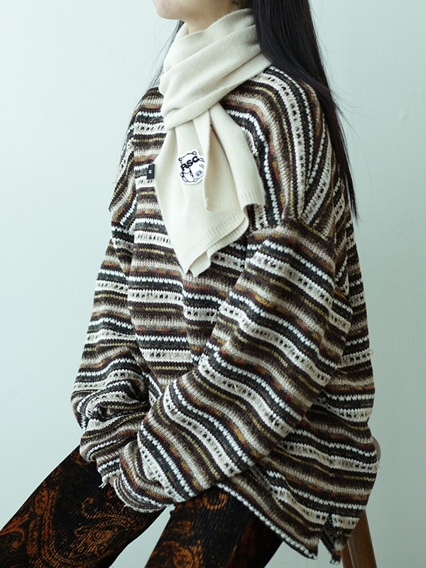[NEW10%] NOISE STRIPE SWEATER - multibr