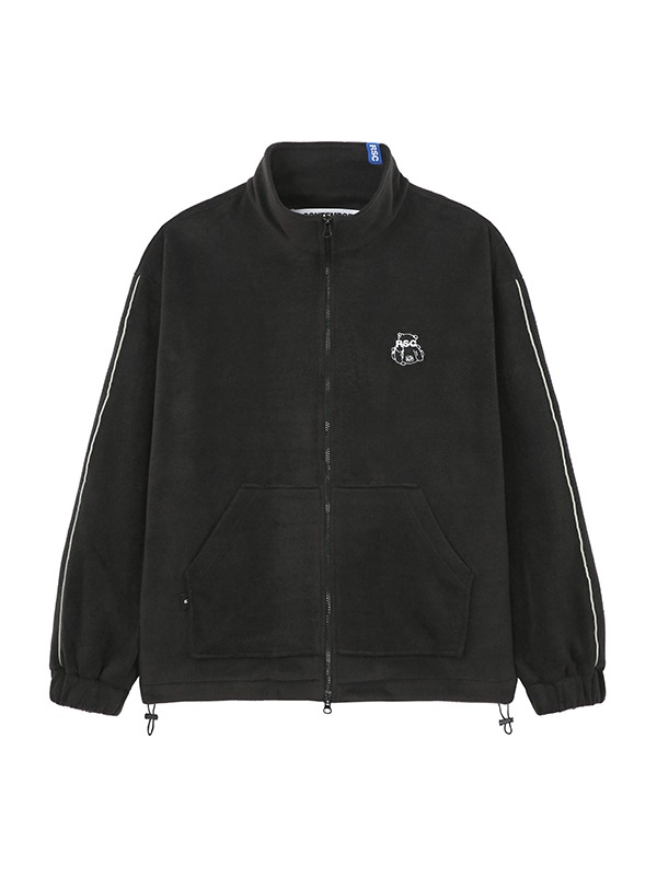 BEAR PATCH STANDARD FLEECE - black