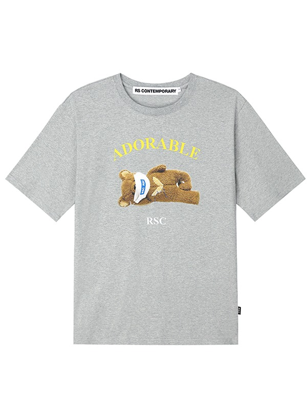 ADORABLE BEAR BASIC T SHIRT - GR