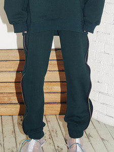 Logo zipper jogger pants -GR (M)