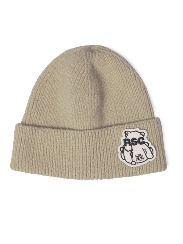 BEAR PATCH BEANIE - BE