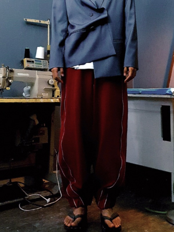 [50% SALE]cotton reflective pants - RED